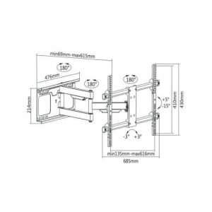 "Full-motion TV Wall Bracket 37""-70"""