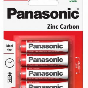 AA Batteries Panasonic Zinc Carbon (4 Pack)